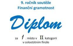 fg diplom 2020 II stat mini 250x160 - 1. místo v celostátním kole soutěže ve finanční gramotnosti